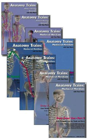 set of 8 technique series dvds from anatomy trains