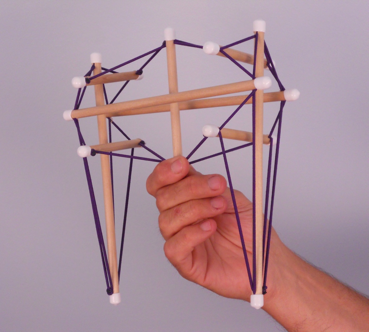 Tensegrity Pelvis Model Exclusively From Anatomy Trains