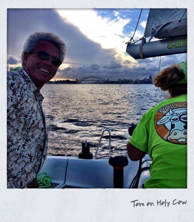 tom sailing australia